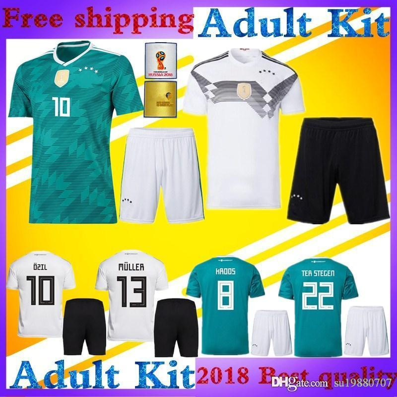 1cf4b4e9a ... 2018 adult kits 2018 world cup muller germany soccer jersey 2019 home  white away green ozil