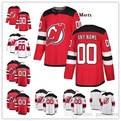 Custom New Jersey Devils Taylor Hall Nico Hischier Kyle Palmieri Miles Wood  Any Name Any Number Mens Women Youth Stitched Hockey Jersey Custom Hockkey  ... 9bffbc442