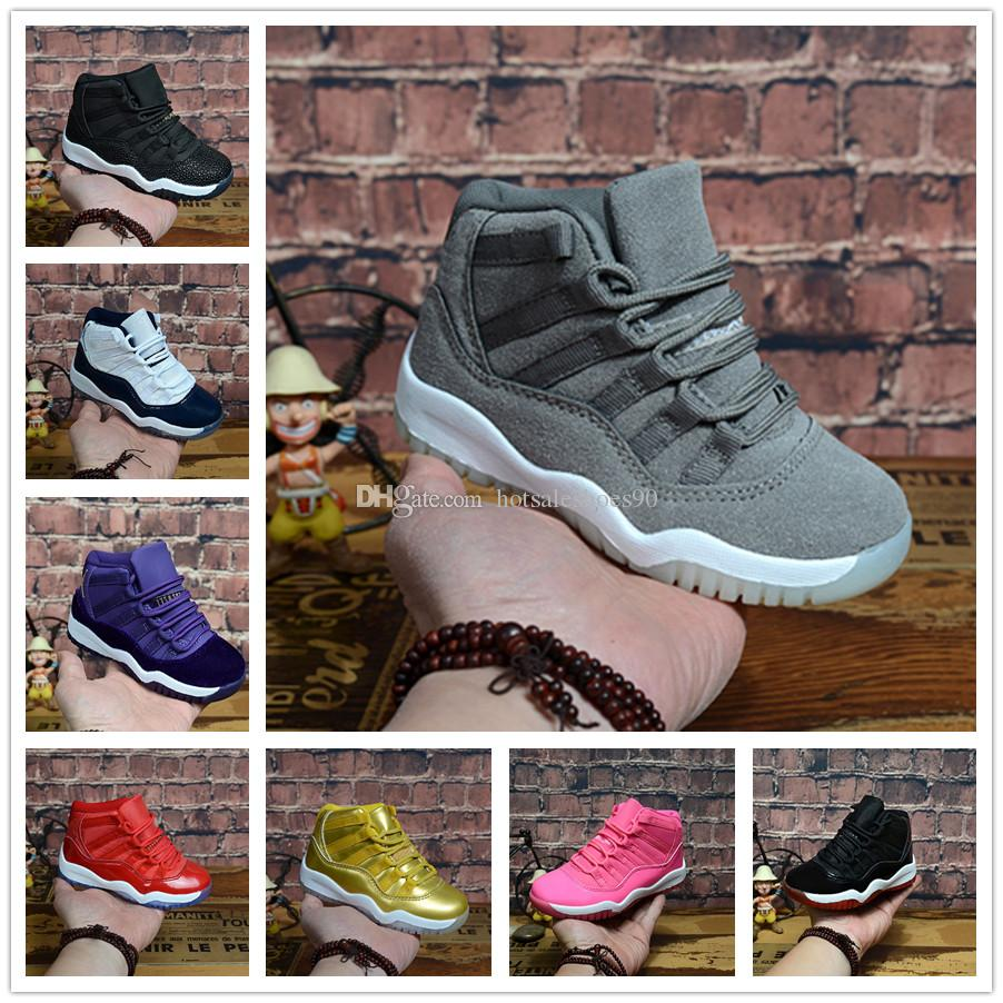 the latest 37ba6 3f105 Großhandel Nike Air Jordan Aj11 Kinder 11 Prom Night Gym Red Midnight Navy  Schwarz Stingray Gezüchtet Concord Space Jam Schuhe Jungen Mädchen 11s  Kinder ...