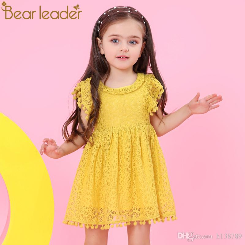 Girls Dress Baby Girls Clothes Lace And Ball Design Baby Girls Summer Dress Short Sleeve Party Dress for Pricess