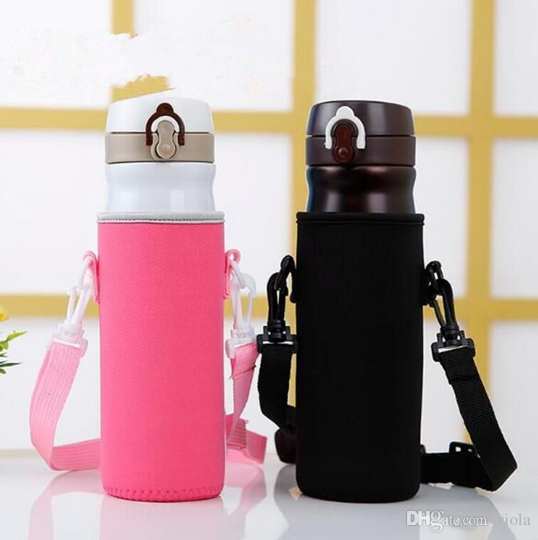 Protable Neoprene Cup Holder Water Bottle Case Cup Cover Bags Holder Carrier With String