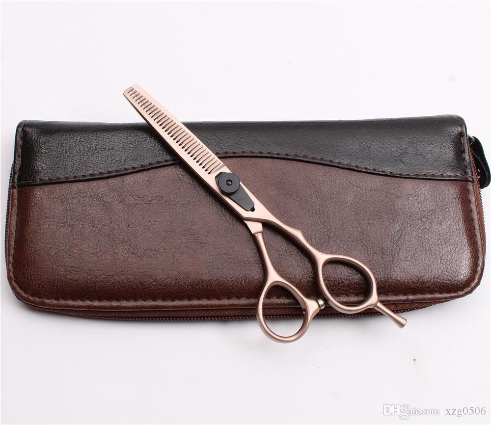 """C9015 6.0"""" Japan 440C Customized Brand Rose Gold Professional Human Hair Scissors Hairdressing Cutting Shears Thinning Scissors Styling Tool"""