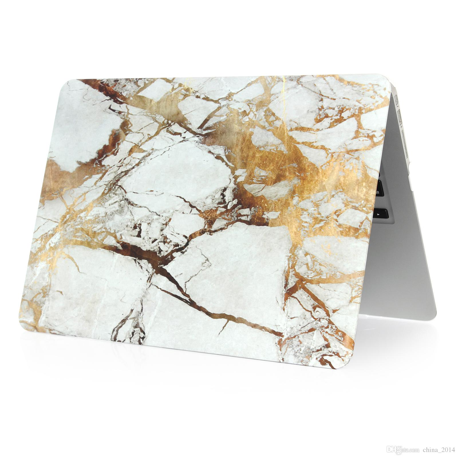 For Macbook 11.6 12 13.3 15.4 Air Pro Retina Touch Marble pattern Cases Full Protective Cover Case with opp packaging
