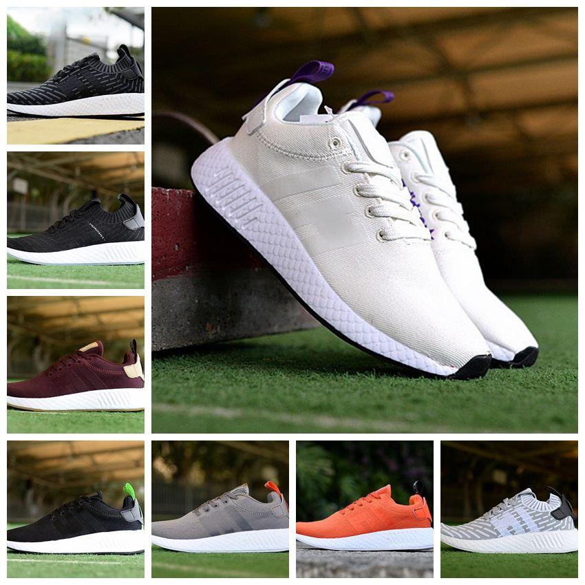 new products d195c b0d92 Acquista 2018 Nmd Runner R2 Coppa Del Mondo Mesh Triple Bianco Nero Uomo Donna  Scarpe Da Corsa Sneakers Nmds Runners Primeknit Sports Mens Scarpe Da ...