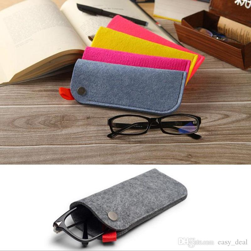 Easy To Carry Useful Soft Eyewear Cases & Bags Felt Sunglasses Square Makeup Bag Eyewear Accessories Storage Bags fast shipping F20173166