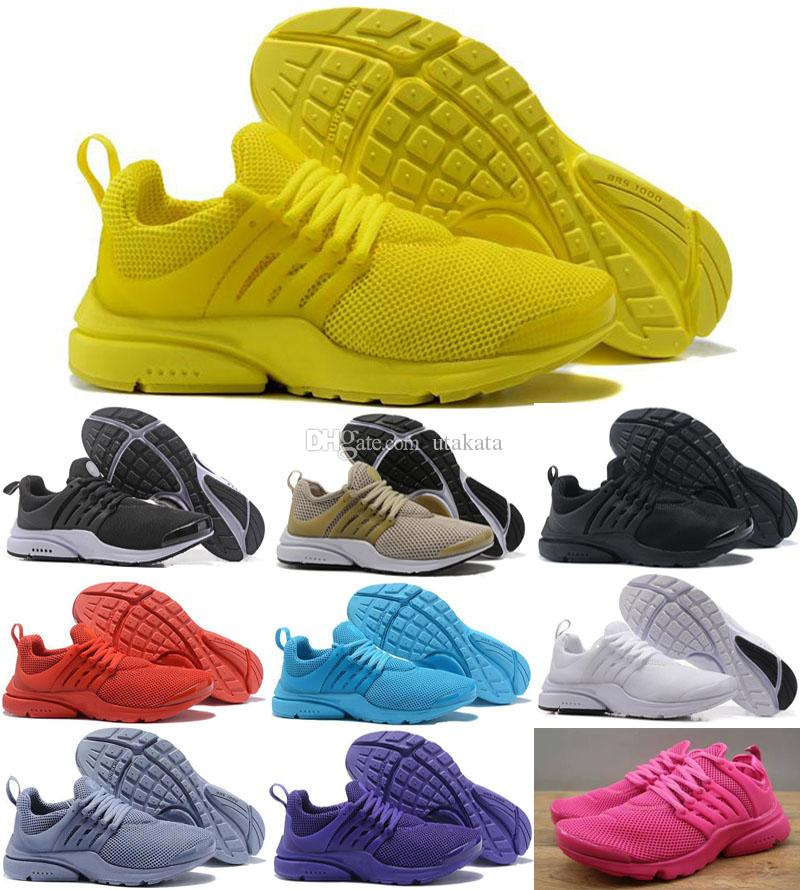 78b01800851d77 2018 Hot Presto 5 Ultra BR QS Black White All Yellow Purple Red Grey Running  Shoes For Women Men Top Prestos V Casual Sports Sneakers 36 46 Running Shoes  ...