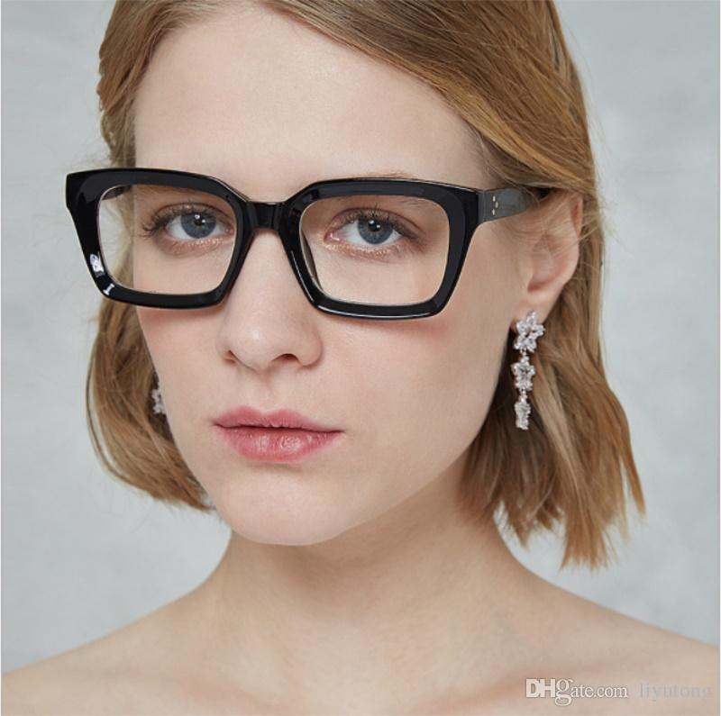 0d3a813dd9c Eyewear Frames Fashion Clear Glasses Frame Women Square Computer ...