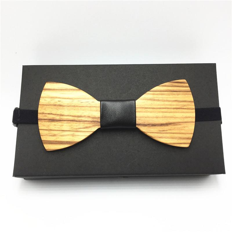 2018 Hot Fashion Mens Wooden Bow Tie Accessory Wedding Party ...