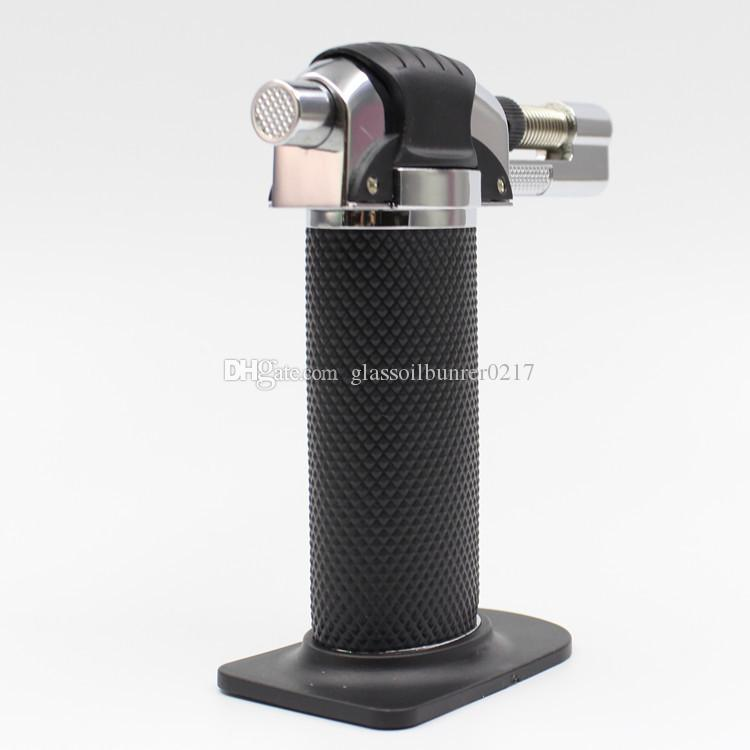 dhl free 1300'C Metal Refillable Dab Butane Gas Torch Lighter Windproof Jet Flame Kitchen Brulee Culinary cigar cigarette Torch Lighter