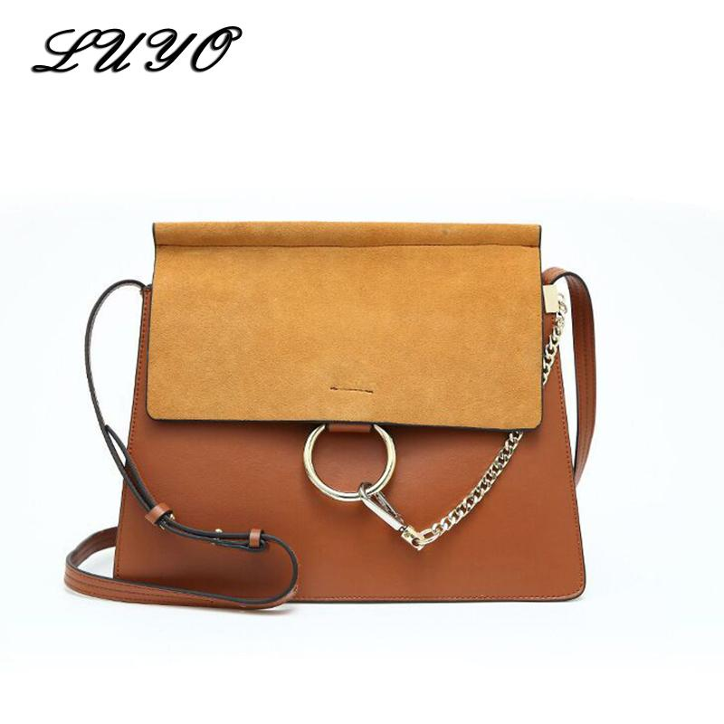 4a93b1900c5 2019 Fashion Brand Luxury Handbags Women Bags Designer Genuine Leather  Suede Cloe Bag High Quality Cowskin Shoulder Bag Chain Organ Reusable Shopping  Bags ...