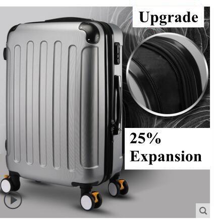 Gepäck Sets Reise Tale 20 25 Zoll Abs Tsa Erweiterbar Spinner Trolley Koffer Rosa Roll Gepäck Mit Rädern Gepäck & Reisetaschen