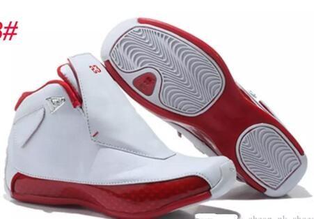 18 أحمر من جلد الغزال أحذية كرة السلة للرجال 18S رياضة أحمر أسود أحذية رياضية أحذية رياضية في الهواء الطلق تشغيل ألعاب القوى مع مربع الأحذية شيبمنت مجانا
