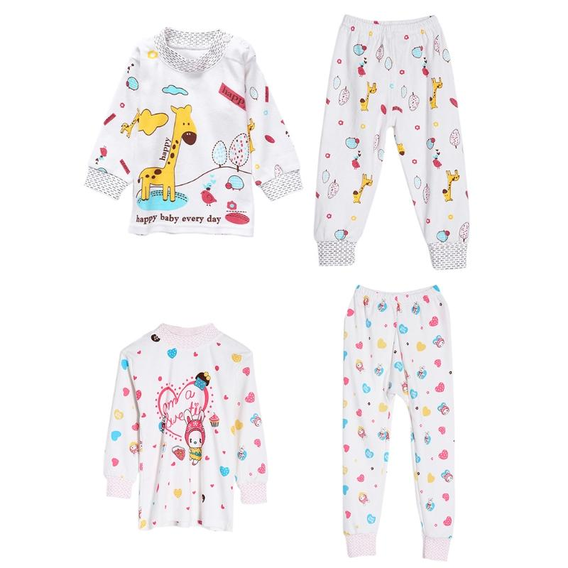 2c52e336edb5 Children Long Sleeve Pajamas Set Captain Giraffe Rabbit Kids Toddler Baby  Boys Girls Print Sleepwear Kids Nightwear M15 Pajama Sets For Boys  Christmas ...