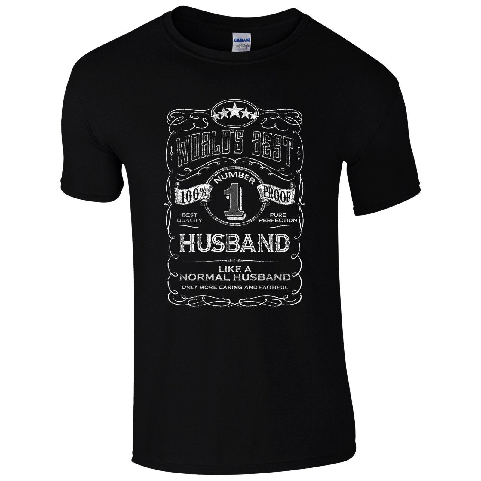ba2c0f2fc World's Best Husband T-shirt Funny Fathers Day Dad Present Valentines Mens  Gift Cool Casual Pride T Shirt Men Unisex New Fashion