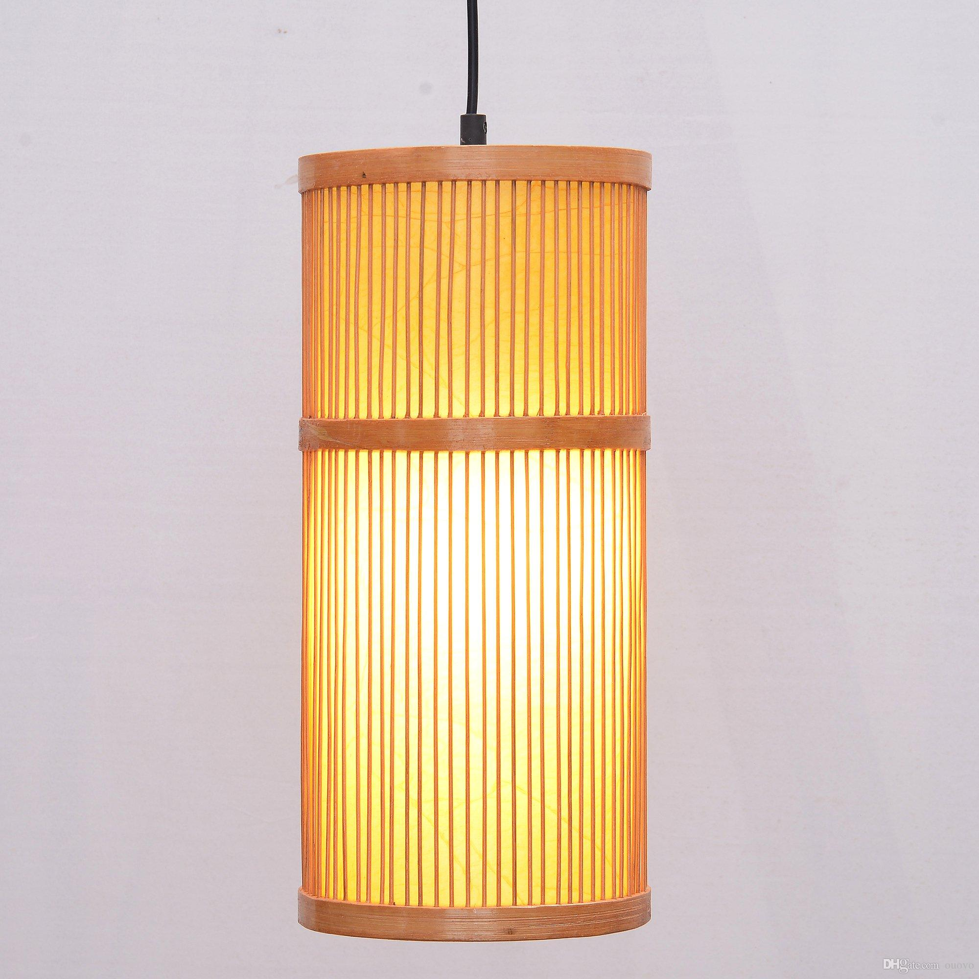 Asian Pendant Lighting Chinese Lantern South Asian Bamboo Cylinder Dining Room Ceiling Pendant Lamp Japanese Restaurant Pendant Lights Country Rustic Hanging Lamps Pendant Lamp Shade Pendant Dhgatecom South Asian Bamboo Cylinder Dining Room Ceiling Pendant Lamp