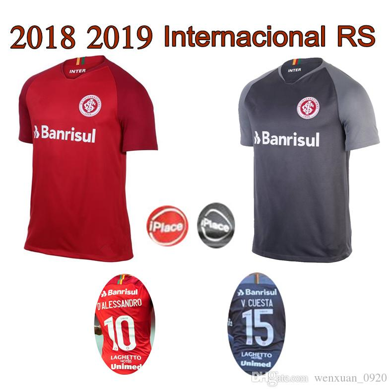 Compre 2018 2019 Internacional RS Camisa De Futebol 18 19 Internacional Em  Casa 3ª Camisa N. LOPEZ N. PATRICK D.ALESSANDRO Camisa POTTKER Camisa De  Futebol ... ec13e923604e2
