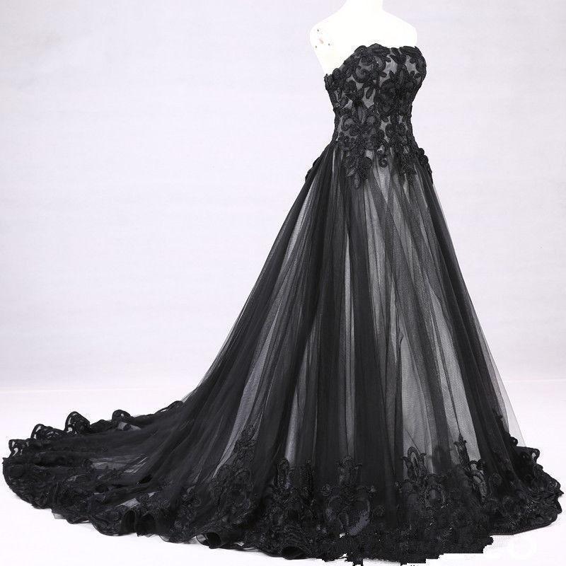 compre vestido de novia de encaje gótico victoriano blanco negro