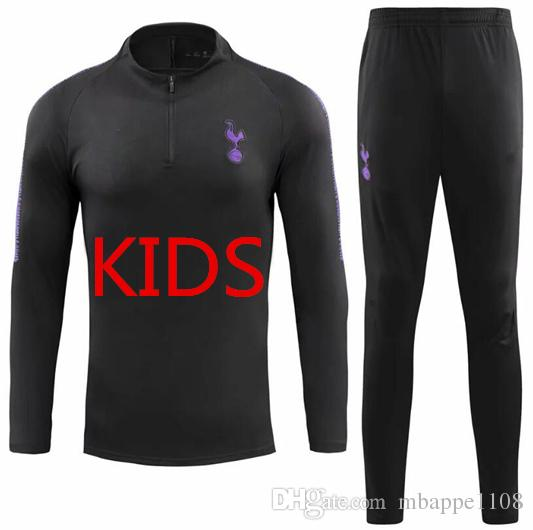 new concept 35539 02a02 18 19 Thailand quality Spurs tracksuit kids kit home away KANE hot Spur  tracksuit LAMELA SON DELE kids Football Uniform kit