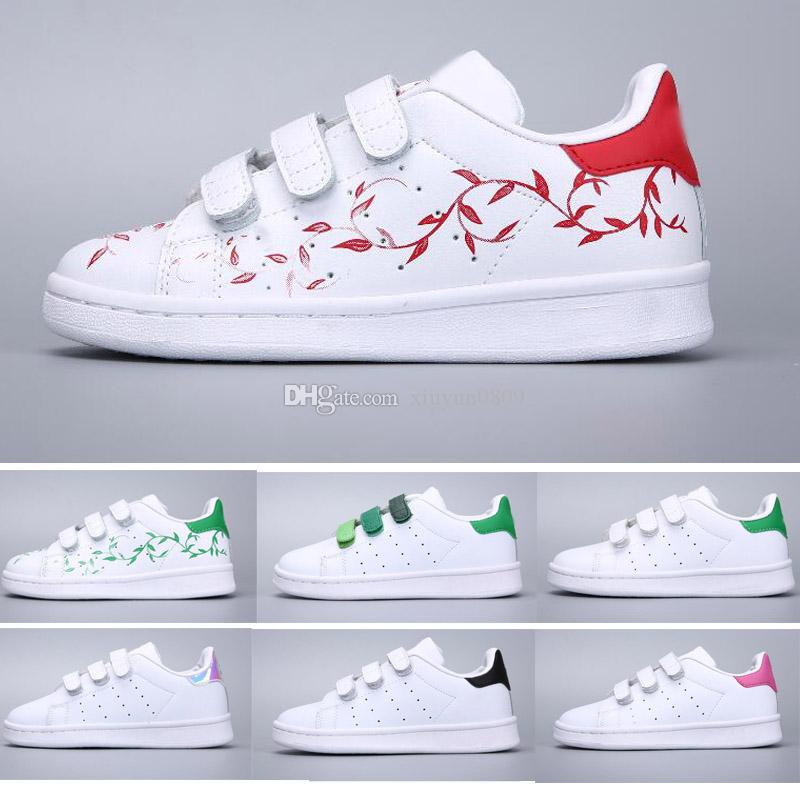 innovative design fa913 d4a7a Acheter Adidas Stan Smith Superstar Marque Enfants Chaussures Superstar  Original Or Blanc Bébé Enfants Superstars Baskets Originaux Super Star  Filles ...