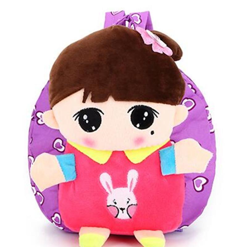 Mini Plush Backpack CUTE Girl Cartoon Baby Soft Plush Bag Lovely ... d55eccb31076c