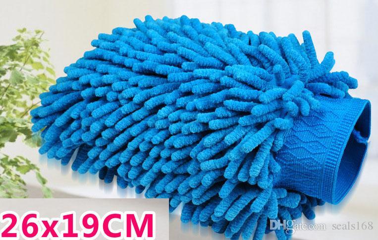 Guanti auto pulizia a mano morbida a doppia faccia ispessito ciniglia corallo lavaggio auto guanti auto spugna lavaggio asciugamano strumenti 26 * 19 cm può utilizzare FBA HH7-803