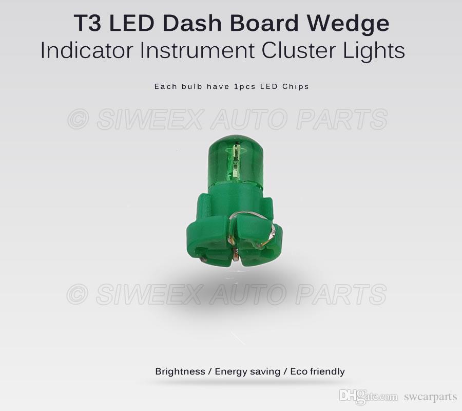 T3 1 SMD Neo Wedge Tablero de instrumentos Tablero Panel Lámparas DC 12V Tablero interior del coche Bombillas LED Bombilla auto Luces