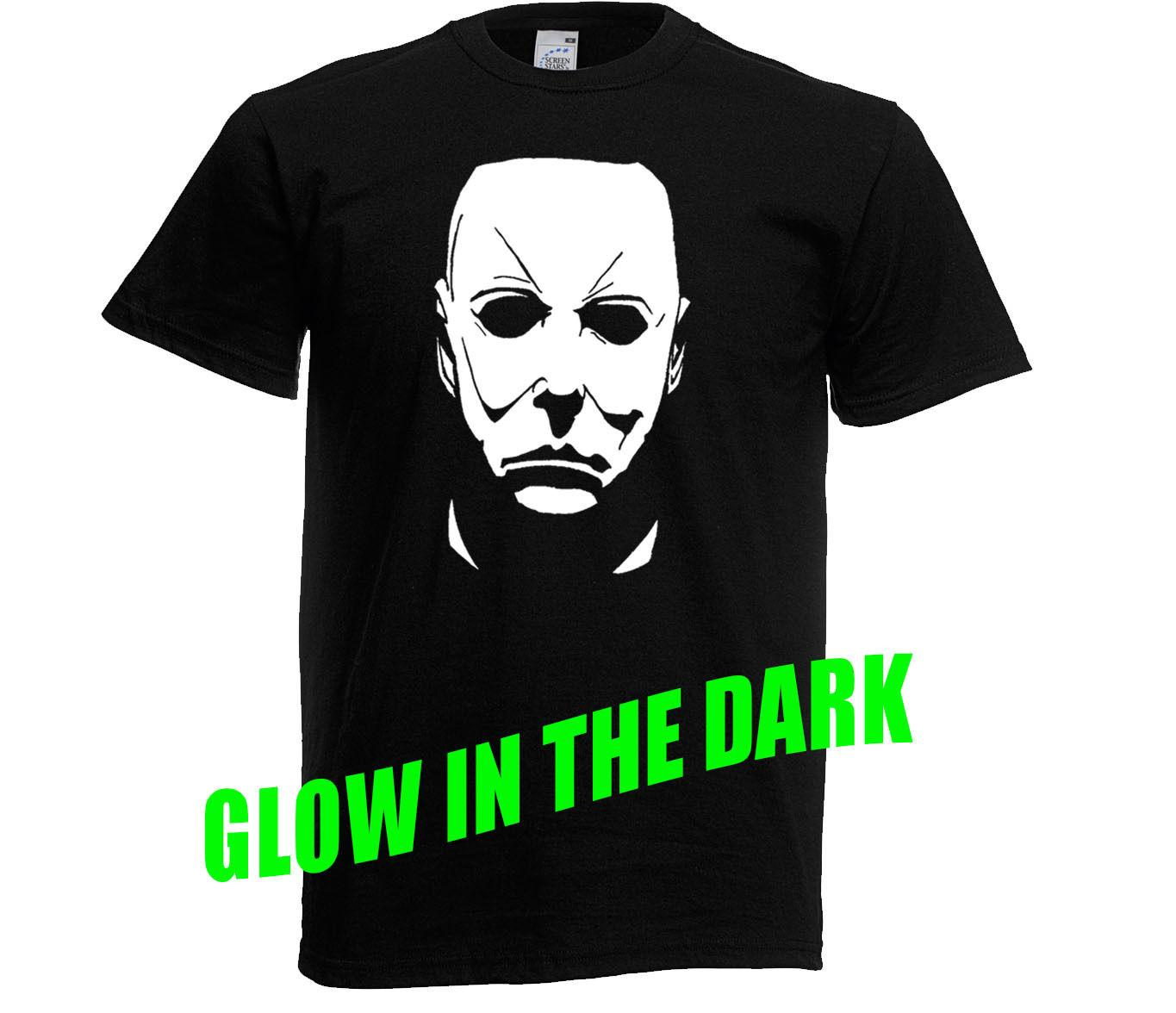 glow in the dark halloween michael myers t shirt age 3 upto xxl horror movie tees shirts cheap design and buy t shirts from mildeast 1156 dhgatecom