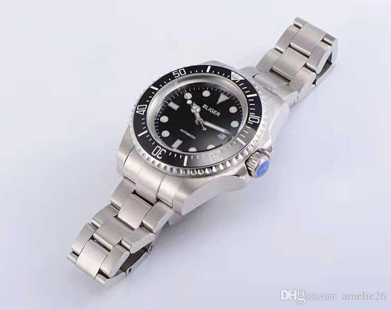Relogio Masculino Luxury Business Men Mechanische Uhren Schwarz Keramik Lünette Edelstahl Herrenuhren Automatische Männliche Uhr Schönes Geschenk
