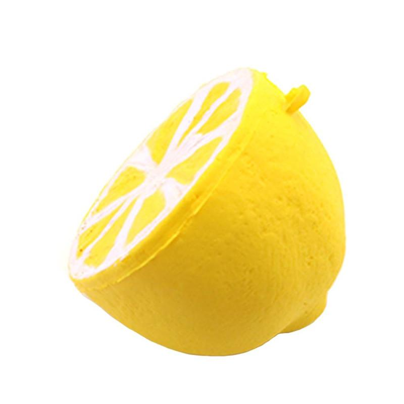 Slow Rising jumbo Squishy Lemon Fruit Toys 6cm size Kawaii Squishies Toy Doll Scented Decompression Fidget Toys