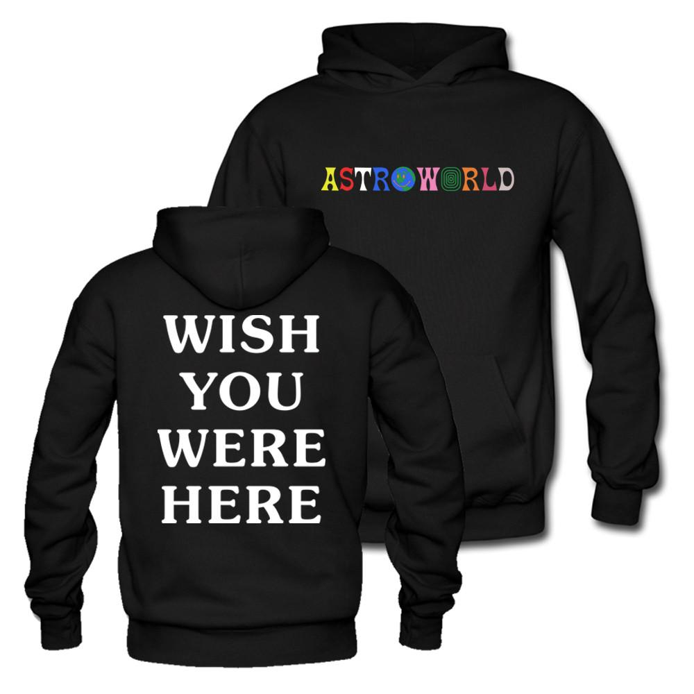 c422784f3102 2019 Travis Scott Astroworld WISH YOU WERE HERE Unisex Pullover Hoodie And  Sweatshirt Different Size Pls See The Size Chart From Rebecco, $56.83 |  DHgate.