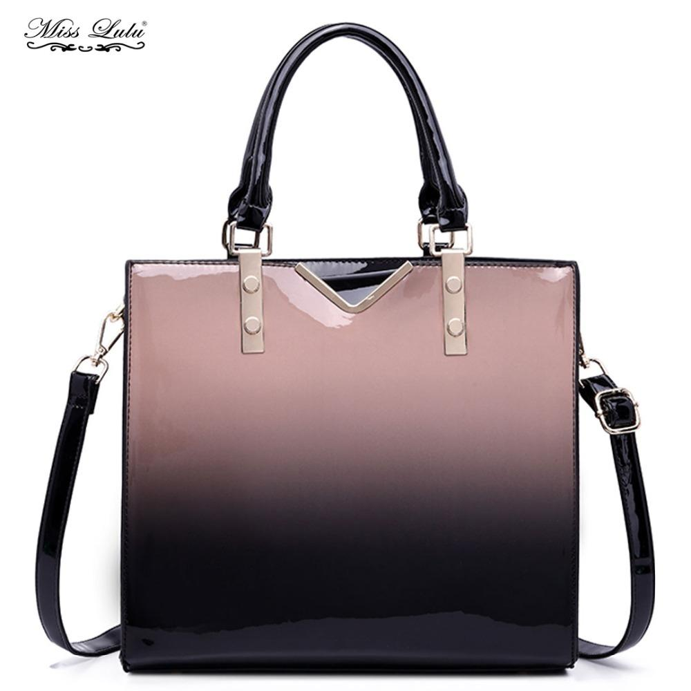 Miss Lulu Women Gradient Handbags Shoulder Bag Ladies Fashion Large ... f0f88f130ffd7