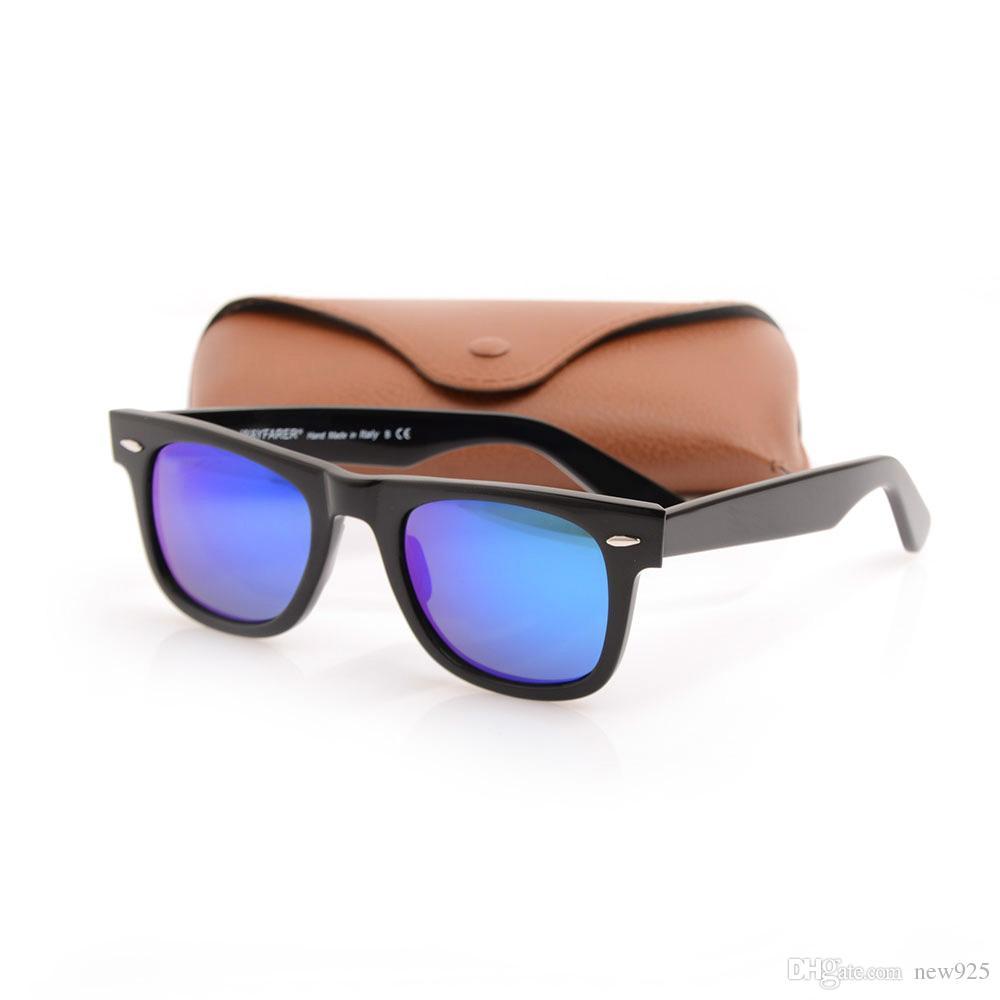 e2faed634a4 Top Quality Plank Sunglasses Women Glass Lens Men Ray Sun Glasses Color  Lens Sport Glasses Brand Sunglasses Unisex Glasses With Brown Case Fastrack  ...
