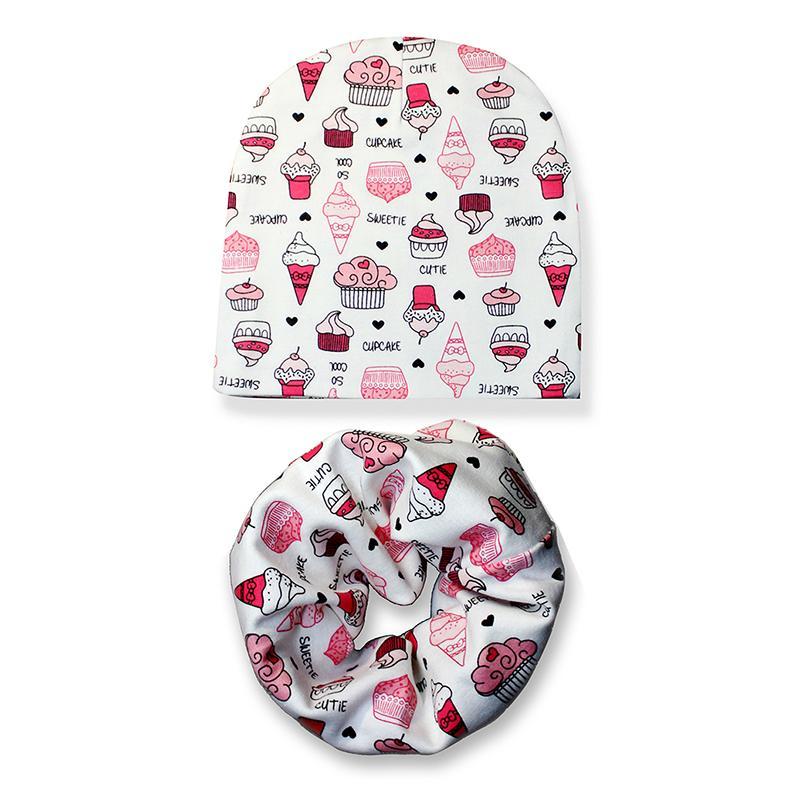2019 Cotton Baby Hat Set Ice Love Print Cotton Cap Baby Hats Newborn Hat  Children Scarf Collar Boys Beanie Kids Cap For Girls From Fkansis 8111ae05c3dd