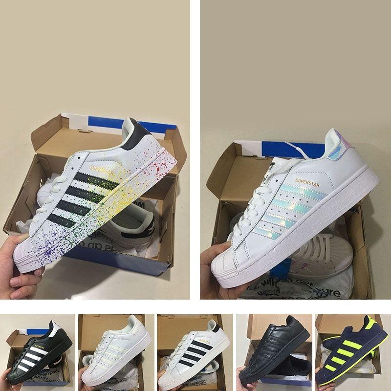 competitive price b3181 97d66 Compre 2018 Originales Auténticos Adidas Originals Súperstar W Sneakers  Classic 80s Sombreros Y Sombreros 100% Smith Classic Zapatos De Skate Blanco  Cuero ...