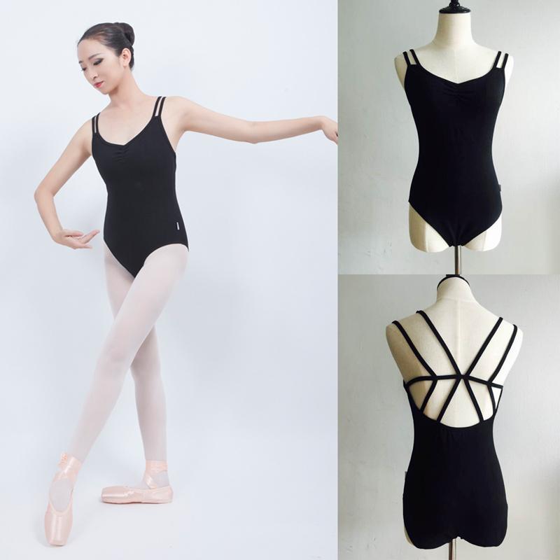 7726946b7 2019 Ballet Leotard For Women Pure Cotton Black Ballet Dancing Wear ...