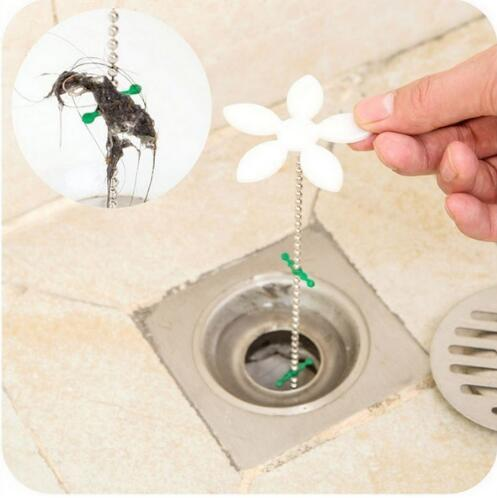 1Pcs Hot Sale Flower Useful Bathtub Shower Chain Cleaner Hair Bathroom Sewer Filter Drain Sink Filter Bathroom Products Bathtub Toilet Hair