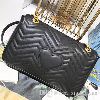 7ee991413e8c Marmont Shoulder Bags Women Luxury Brand Real Leather Chain Crossbody Bag  Handbags Famous Designer Purse High Quality Female Bag Handbags On Sale  Leather ...