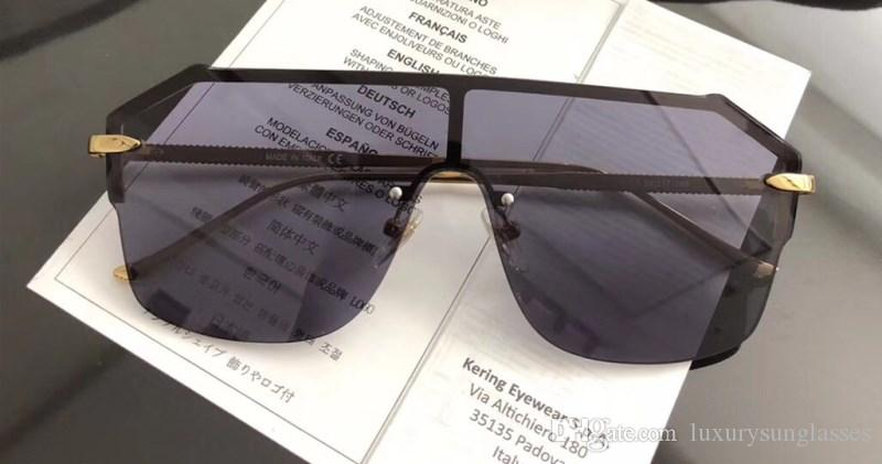 Luxury 0429 Sunglasses For Women Men Design Fashion Sunglasses Wrap Sunglass Half Frame Coating Mirror Lens Carbon Fiber Legs Summer Style.