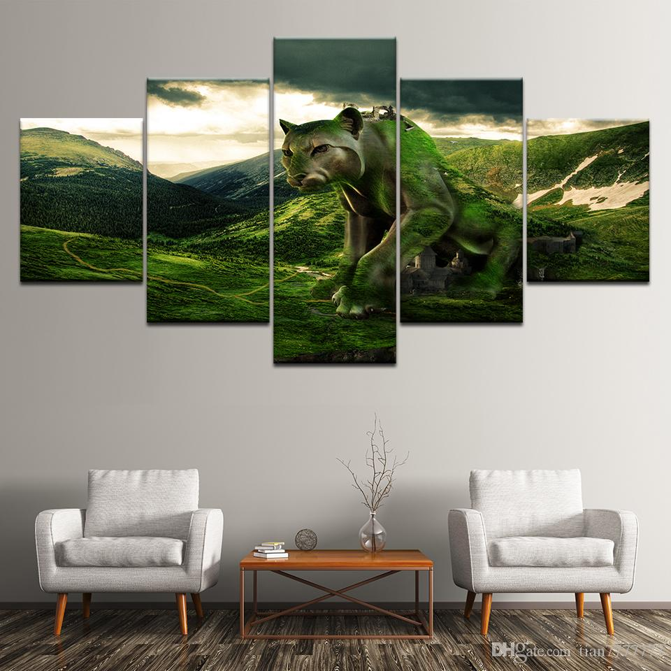Wall Art Picture Unframed Home Decoration Lion Animal Oil Painting On Canvas HD Print Poster Painting Popular Gift