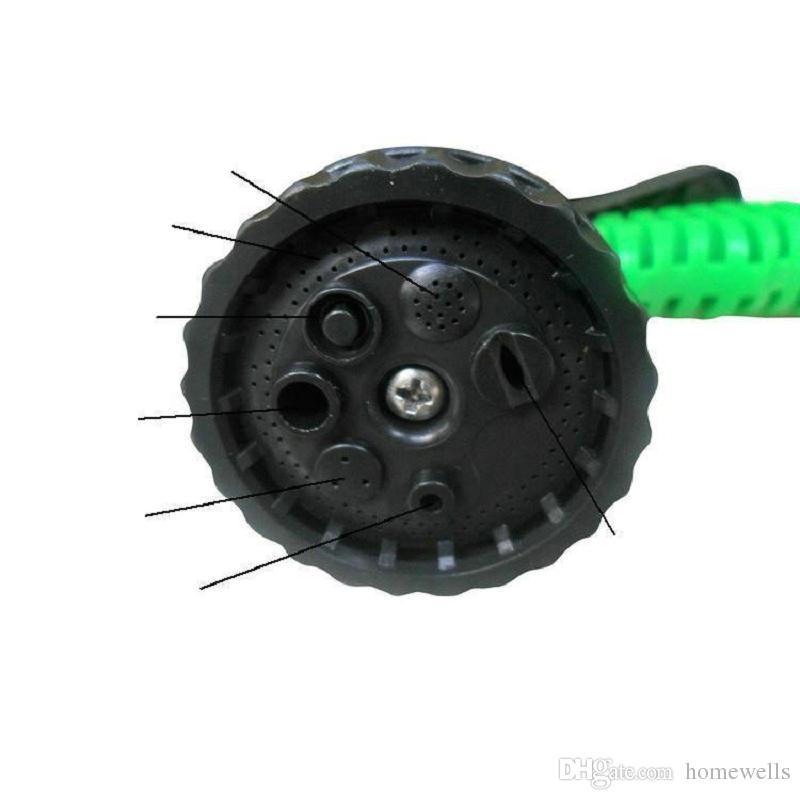 3X Erweiterbar Magischer Schlauch mit 7in1 Spritzpistole Düse 25FT / 50FT / 75FT / 100FT Bewässerungssystem Gartenschlauch Wasserpistole Rohr OPP Paket 10 STÜCKE
