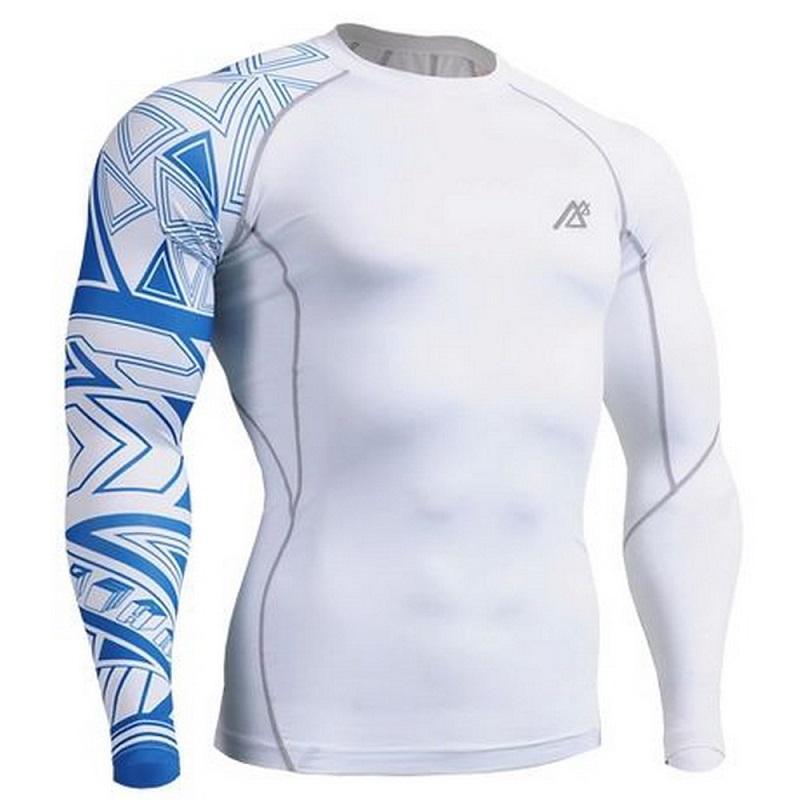 Mens Gym Sport T-Shirt Top Rashguard Fitness Slim fit Pants MMA Base layer