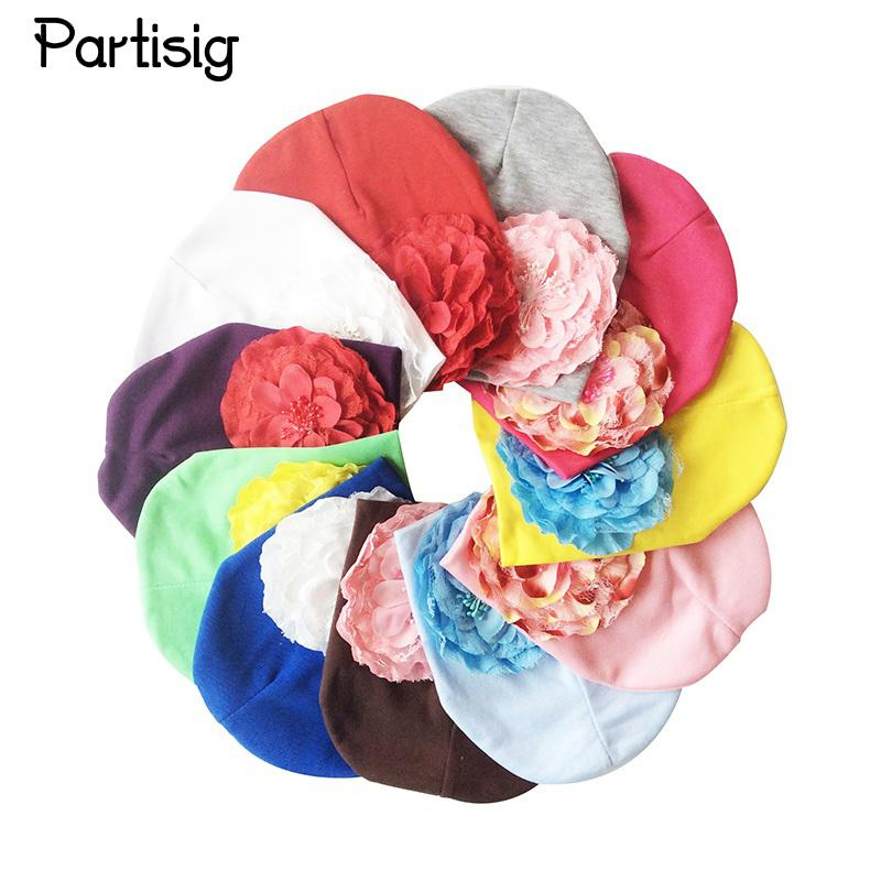 34496518571 2019 Partisig Brand Baby Girls Hat Coon Knit Floral Beanie For Girls ...