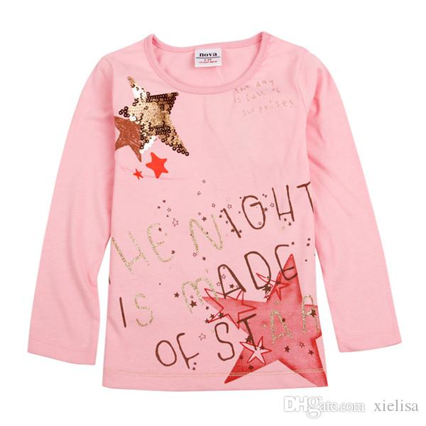 2018 Orange Leaves baby girls clothes girl t shirt 2018 girls fashion baby printed floral girl t shirts children clothing casual