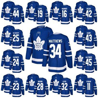 Mens Toronto Maple Leafs Joffrey Lupul Morgan Rielly 34 Auston Matthews 16  Mitch Marner Zach Hyman Josh Leivo 23 Fehr Ice Hockey Jersey Auston  Matthews ... 72904bacd