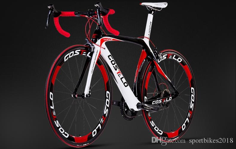 HOT SALE!2015 full carbon costelo lucca road bicycle carbon bike DIY complete bicycle completo bicicletta bicicleta completa
