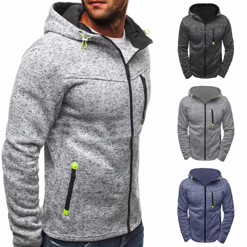 best loved 84fb0 5ff1a Winter Hoodie Männer Strickjacke 2017 neue Langarm Hoodies Männer Zipper  Sweatshirt Hoodies Herren Kapuzen Plus Size Mantel Jacke