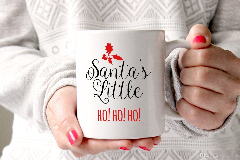 Santas Little Ho Ho Ho Christmas Mug Christmas Gift Mug Christmas Food Gifts Stocking Fillers Festive Gifts Festive Mug Jingle Bells Mug Gift