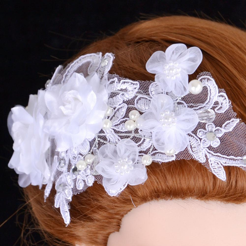 Lace Bridal Birdcage Veil Handmade Flowers Crystals Wedding Bridal Veil Netting Face Short Feather Flower White Fascinator Bride Hats
