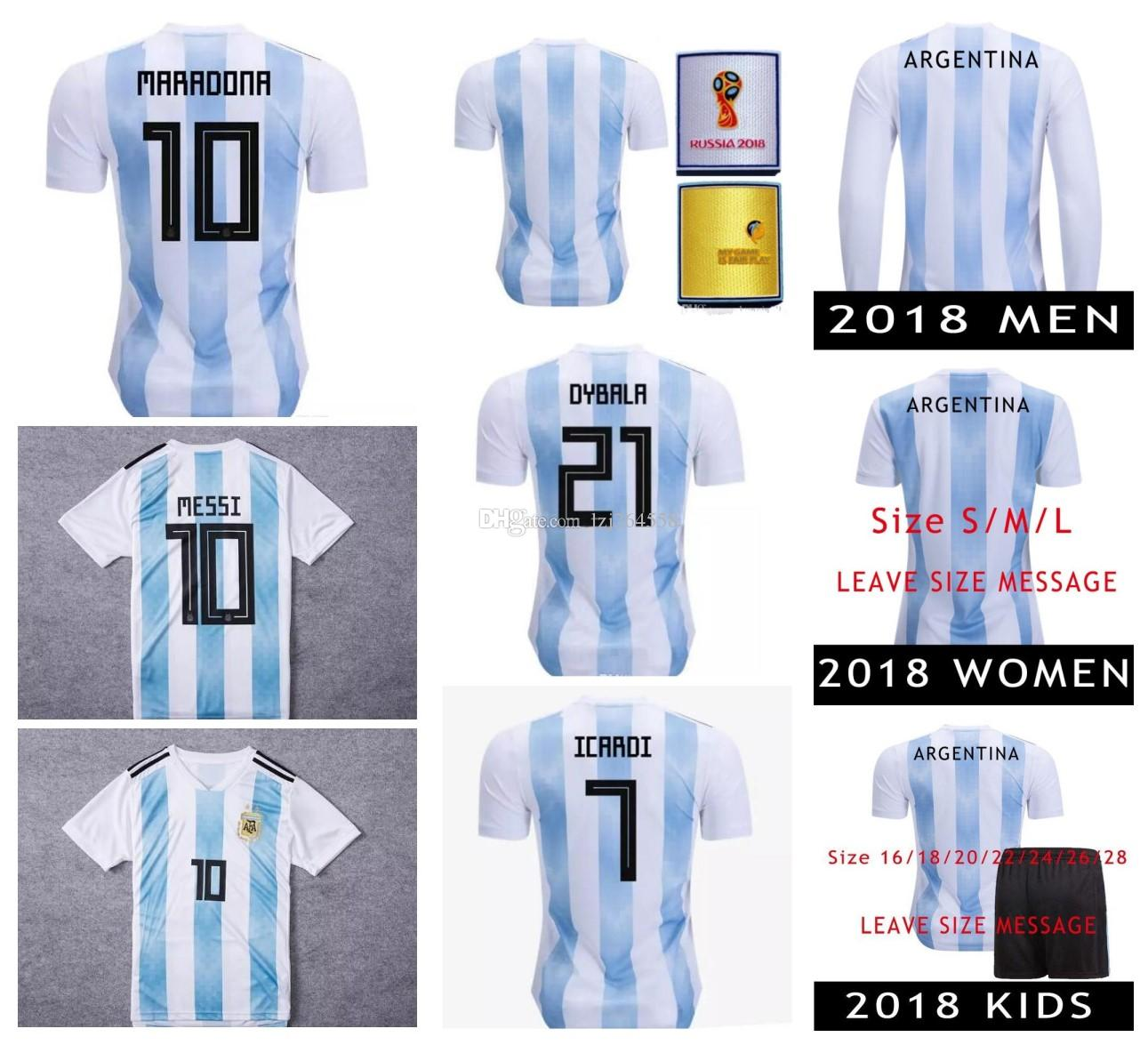 2345e8ac7 2019 Whosales Messi Jersey 2017 Soccer Jerseys Aguero Shirt Argentina  Soccer Jersey 2018 World Cup Soccer Dybala Di Maria Thai Football Jersey  From ...