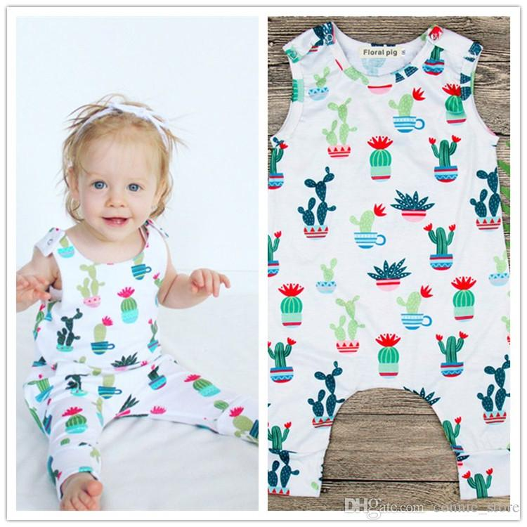 c7e1f44a4823 Baby Rompers Summer Cotton Newborn Baby Clothes Cactus Printed ...